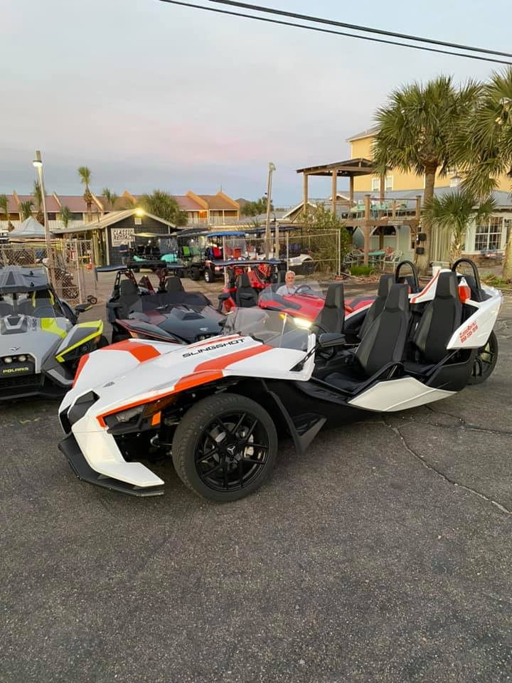 4 Seater Polaris Slingshot Rentals Now Available!